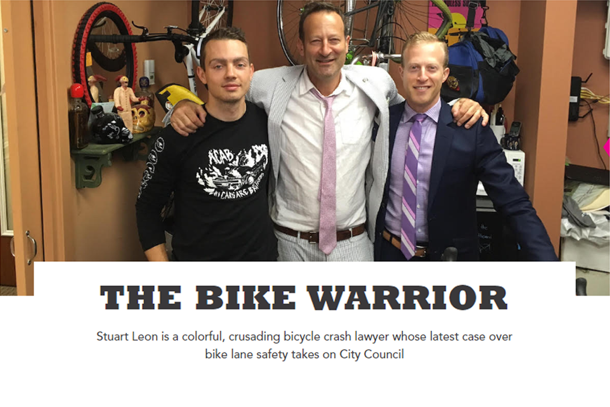 Taking the case for bike lane safety to City Council